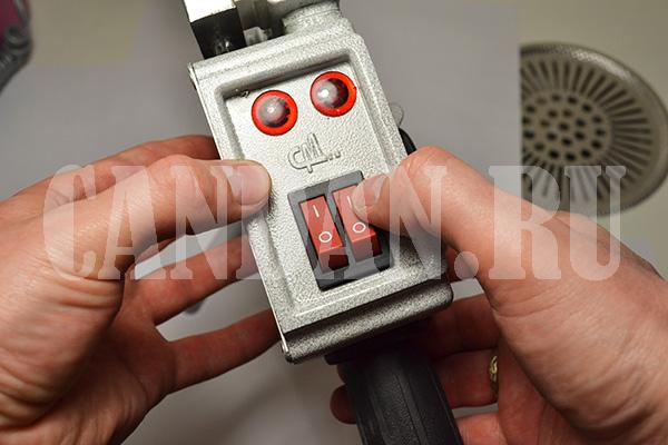 Управление нагревательными элементами аппарата Candan